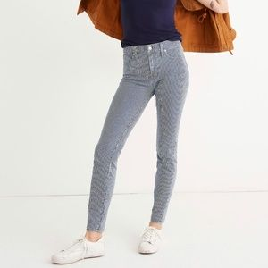 """Madewell 9"""" Mid-rise Skinny Jeans in Piper Stripe"""